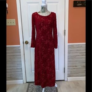 Gorgeous Vintage Melissa Flocked Velvet Dress❣️